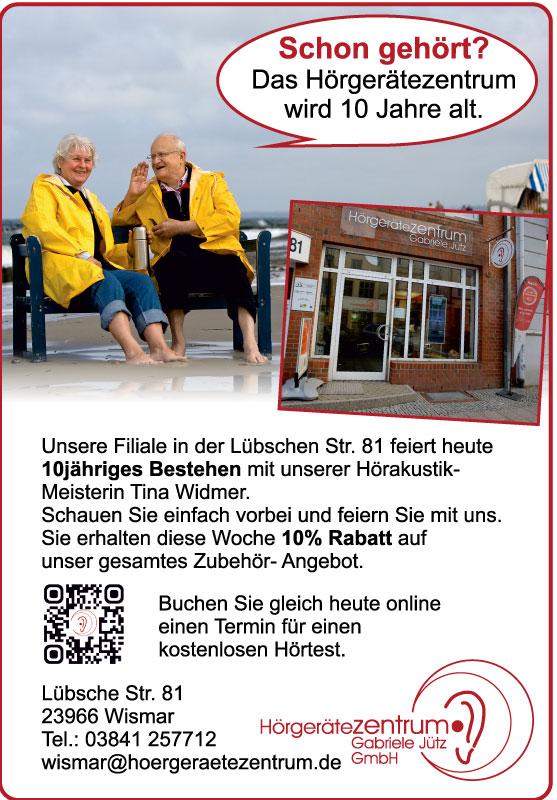 10 Jahre Hörgerätezentrum in der Lübschen Straße 81